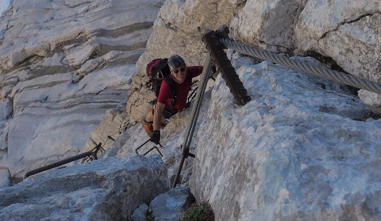 Gr. Priel Klettersteig Holger Friedl Manuela 10.10.2018 12-02-42 (© TVB Pyhrn-Priel/Kniewasser)