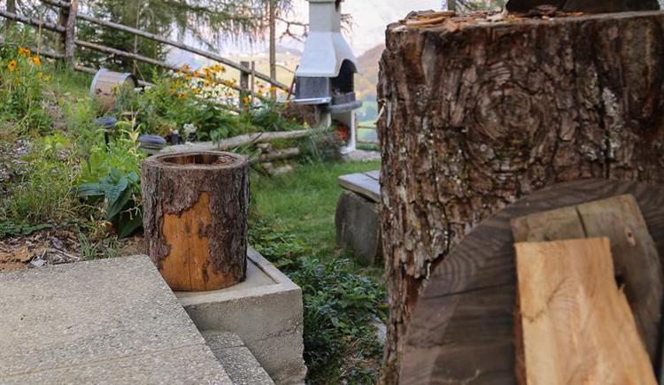 Platz zum Holzhacken (© Kreitalm)