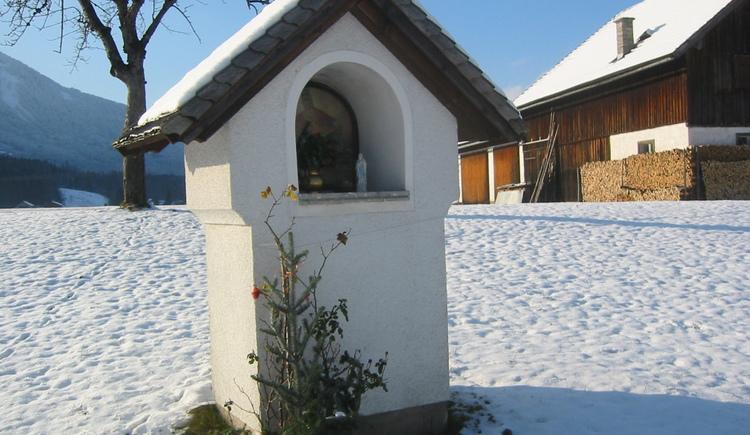 Schärferbauer im Winter am Wolfgangsee