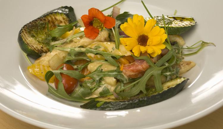 die Kräuterwirt Speisekarte bietet eine große Auswahl an Vegatarischen Gerichten. (© GR)