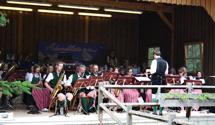 Brass band concert at the guesthouse Gosauschmied