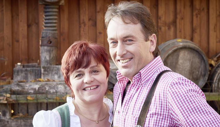 Erika und Manfred Gaßner, Speck-Alm, Bad Kreuzen. (© WGD Donau Oberösterreich Tourismus GmbH-Peter Podpera)
