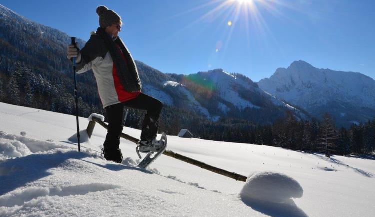 schneeschuhwandern ein naturgenuss