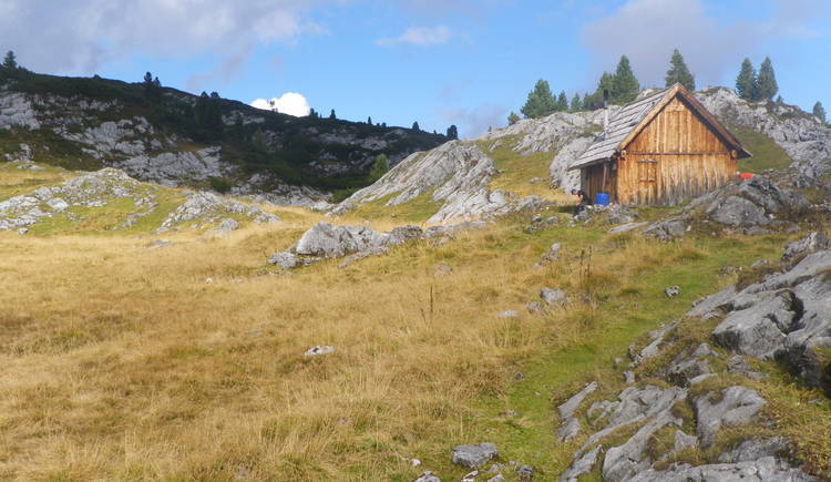 past historic alpine pastures to the Modereck