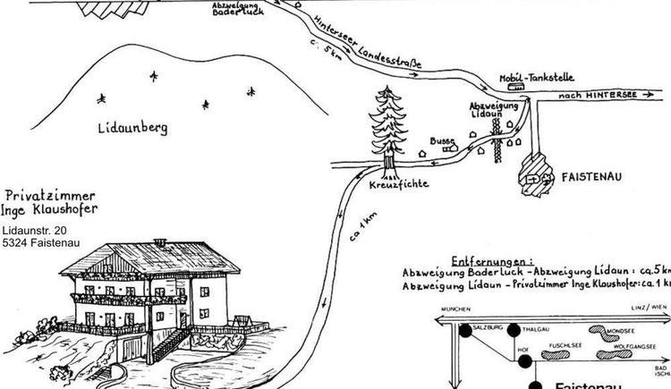 Anfahrt Haus Klaushofer Faistenau