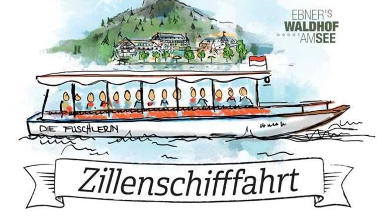 Zillenschifffahrt `Die Fuschlerin` (© Ebner's Waldhof am See)