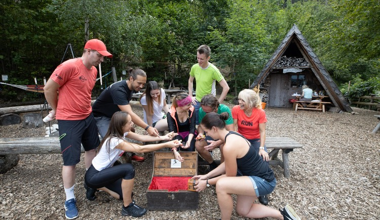 Schatzkiste für das Team (© Abenteuer Management - Daniel Hinteramskogler)