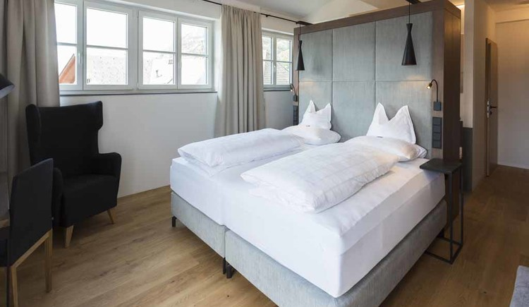Beispiel Zimmer Hotel Aichinger**** in Nussdorf am Attersee. (© Familie Aichinger)