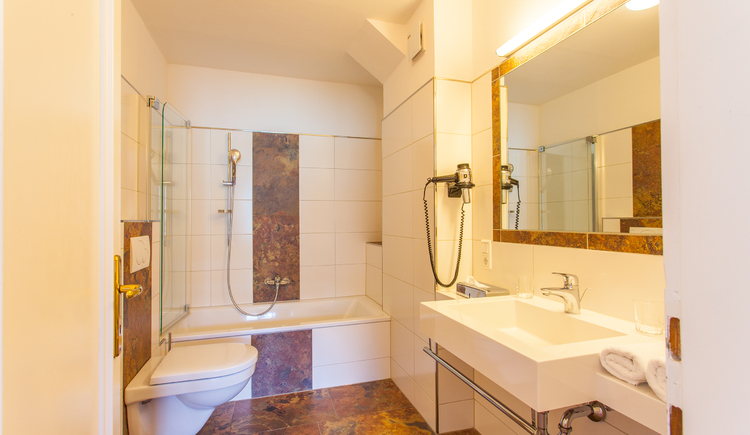 unsere neu renovierten Badezimmer (© Ferstl)