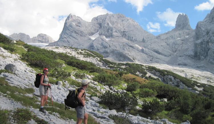 Schneebergwand und Eiskarlspitze. (© Gisbert Rabeder)