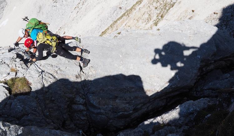 Gr. Priel Klettersteig Holger Friedl Manuela 10.10.2018 10-13-56 (© TVB Pyhrn-Priel/Kniewasser)