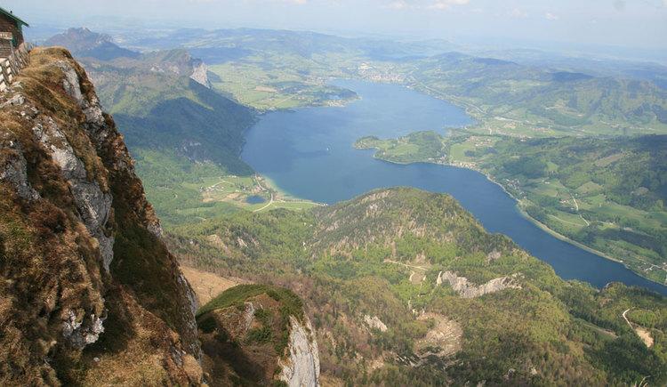 Aussicht vom Schafberg auf den Mondsee. (© www.mondsee.at)