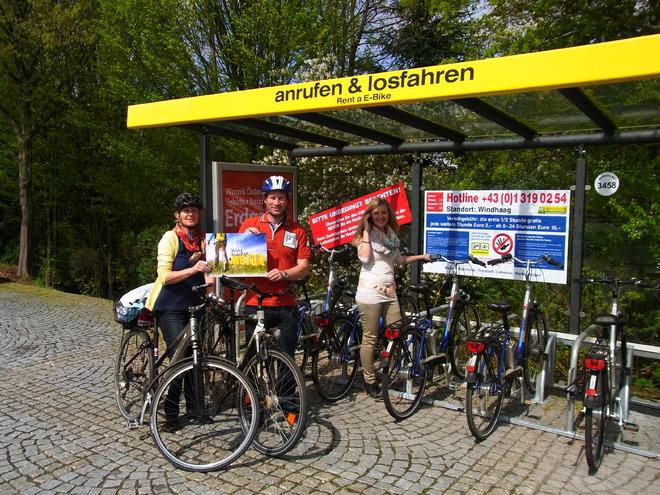 E-Bike Verleihstation Windhaag bei Freistadt (© Carina Traxler)