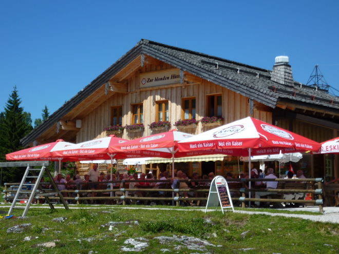 Alpine Restaurant 'Zur Blonden Hütte' (© Peter Pranieß)