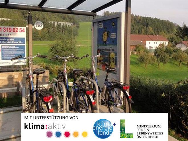 E-Bike Verleihstation Selker - Bierbuschenschank Eder Bräu (© Tourismusverband Mühlviertler Kernland)