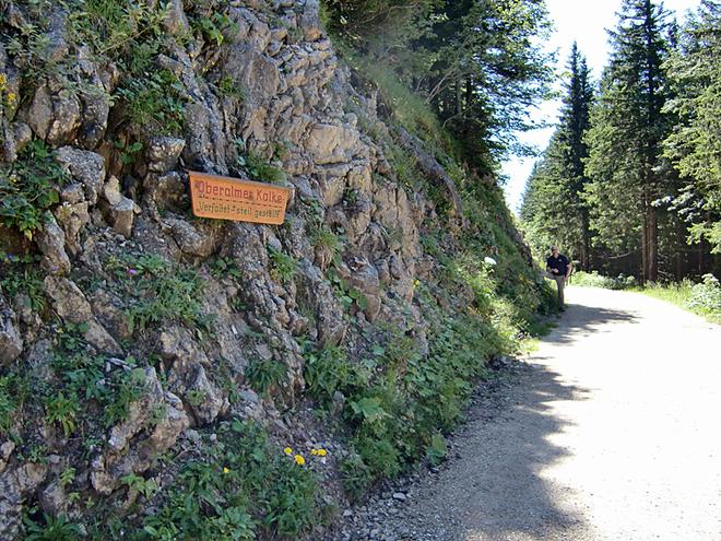 Schild Oberalmer Kalke