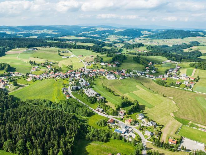 Luftaufnahme Neustift ob der Donau (© TV Neustift)