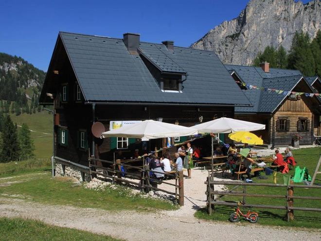 Wiederlechnerhütte im Sommer (© Aspetzberger)