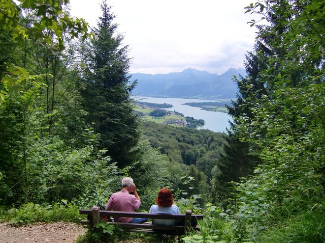 Blick auf den östlichen Teil vom Wolfgangsee (© WTG)