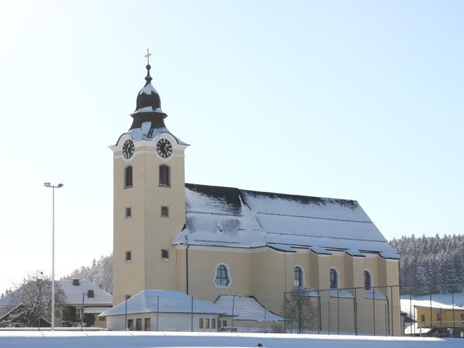 Kirche Winter (© Judith Hießl - Gemeinde Sandl)