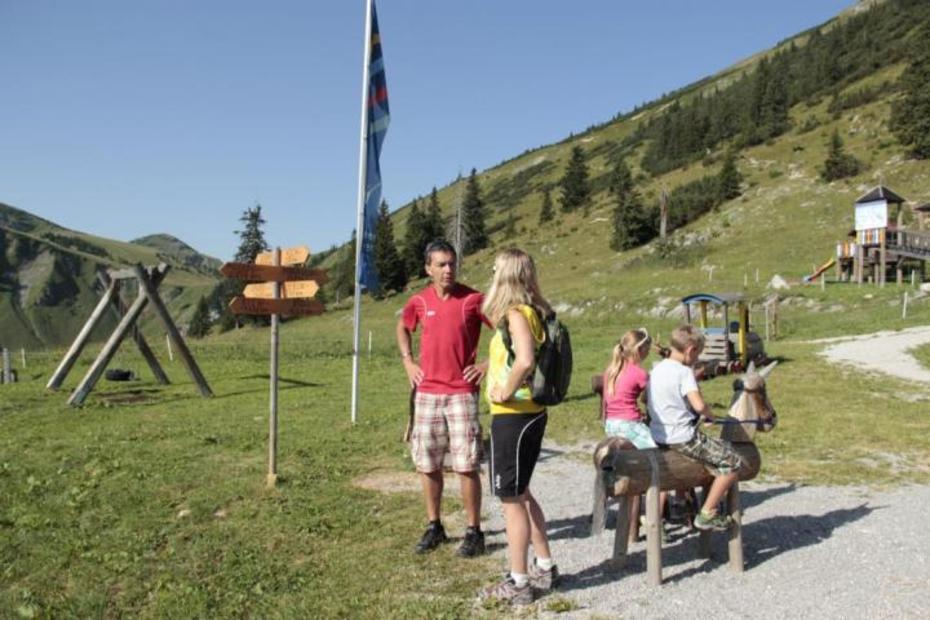 Spielplatz an der Bergstation der Wannenjochbahn